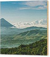 Flores Volcano Wood Print