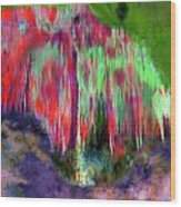 Florescent Cave Wood Print