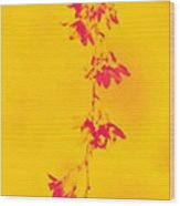 Florets In Ochre Wood Print