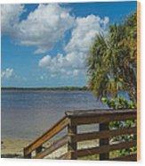 Florida Beach Sky Line. Wood Print