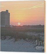Florida Beach Sunset Wood Print