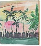 Florida City-skyline3 Wood Print