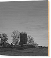 Florida Farmlands Black And White Wood Print