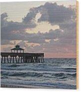 Florida Fishing Pier Wood Print