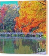 Florida Fll Wood Print by Annette Allman