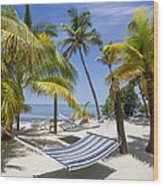 Florida Keys Wellness Wood Print