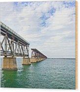 Florida Overseas Railway Bridge Near Bahia Honda State Park Wood Print