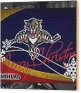 Florida Panthers Christmas Wood Print