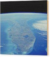 Florida Peninsula, Discovery Shuttle Wood Print