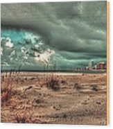 Florida Point Begining Of The Storm Wood Print