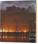 Florida Power And Lightning Wood Print