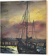 Florida Sailing Wood Print