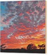 Florida Spring Sunset Wood Print