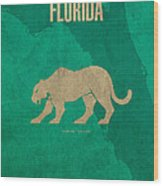 Florida State Facts Minimalist Movie Poster Art  Wood Print