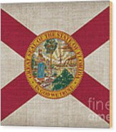 Florida State Flag Wood Print