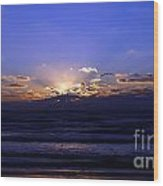 Florida Sunset Beyond The Ocean  II Wood Print