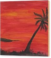 Florida Sunset II Wood Print