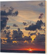 Florida Sunset Wood Print