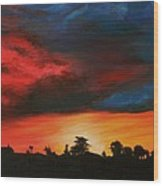 Florida Sunset Wood Print by Lisa Bentley