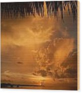 Florida Sunshower Sunset Wood Print