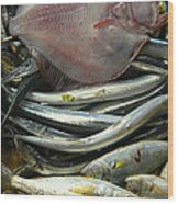 Floundering Wood Print