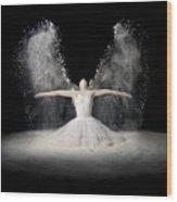 Flour Wings Wood Print