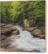 Flow Of Forest Zen Wood Print