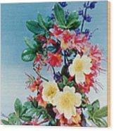 Flower Arrangement 1 Wood Print