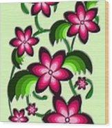 Flower Arrangement Wood Print