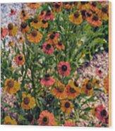 Flower Ballet Wood Print