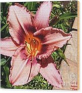 Flower Beauty  1 Wood Print