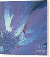 Flower Blue II Wood Print