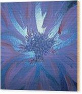 Flower Blue Wood Print