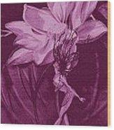 Flower Bomb One Reticulation Wood Print