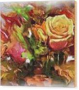 Flower Bouquet Greetings Wood Print