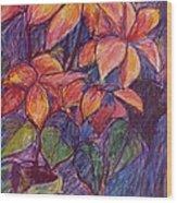Flower Burst Wood Print