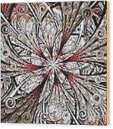 Flower Carving Wood Print