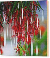 Flower Chandelier Wood Print