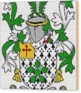 Flower Coat Of Arms Irish Wood Print