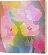 Flower Deco IIi Wood Print by Lutz Baar