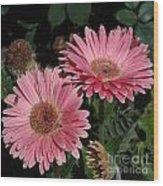 Flower Duvet Cover Wood Print