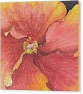 Flower Face Wood Print