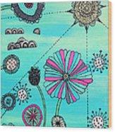 Flower Fever Wood Print