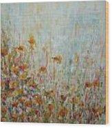Flower Field Wood Print