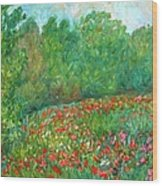 Flower Field Wood Print