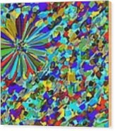 Flower Fight Abstract Wood Print
