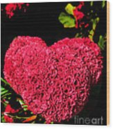 Flower For The Heart Wood Print