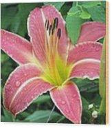 Flower Garden 01 Wood Print