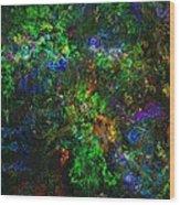Flower Garden Gone Wild Wood Print