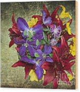 Flower - Garden Joy - Luther Fine Art Wood Print